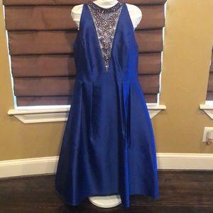 Adrianna Papell blue sapphire dress